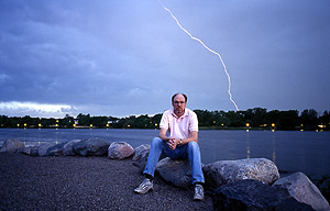Self Portrait with Lightning, Saint Paul, Minnesota