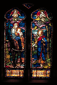 Stained Glass Window in St. Mary's Church